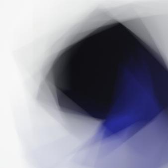 Fading Icons (Variation #2 sur « Peinture suprématiste » avec rectangle noir et triangle bleu de Kasimir Malévitch)