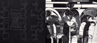 """Michel Boulanger et François Lacasse FIGURES — PREMIER VOLET @ Michel Boulanger et François Lacasse, exposition """"Figures - Premier volet"""", Galerie B-312, 1992."""