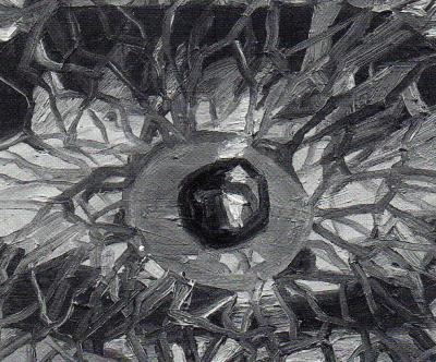 "Carmen Ruschiensky GLOBES OCULAIRES © Carmen Ruschiensky, exposition ""Globes oculaires"", Galerie B-312, 2001"