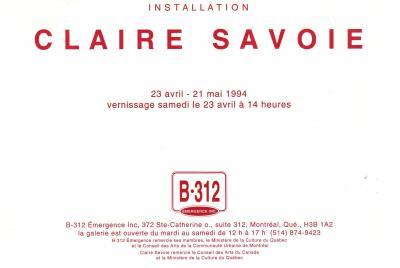 Claire Savoie INSTALLATION