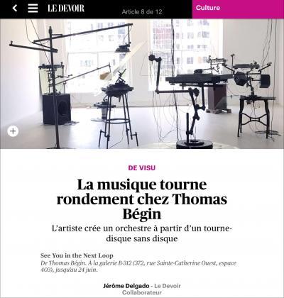 Thomas Bégin See You In the Next Loop © Thomas Bégin—See You In The Next Loop