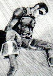 Éric Ladouceur THROUGH SUPER HEROES ET AUTRES MENSONGES © Éric Ladouceur, Galerie B-312, exposition Through Super Heroes et autres mensonges, 2000.